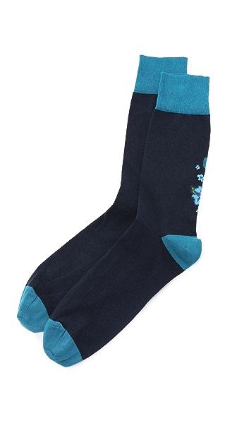 Corgi Floral Socks