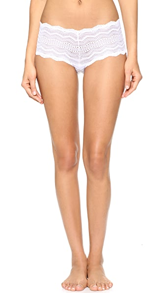 Cosabella Ceylon Low Rise Boy Shorts In White