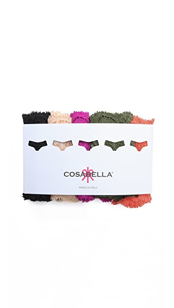 Cosabella Cutie Low Rise 5 Pack Thongs