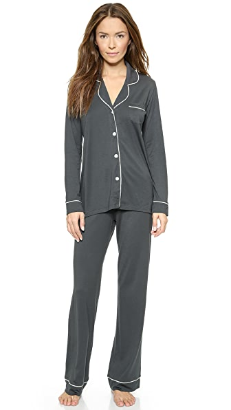 Cosabella Bella PJ Set In Anthracite/Ivory