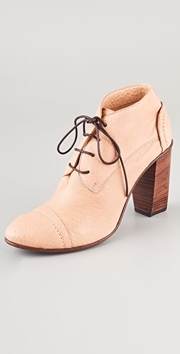 CoSTUME NATIONAL Lace Up Oxford Booties