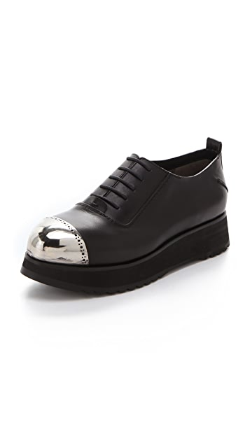 CoSTUME NATIONAL Steel Toe Platform Oxfords
