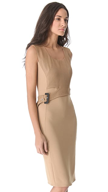 CoSTUME NATIONAL Belted Sleeveless Dress