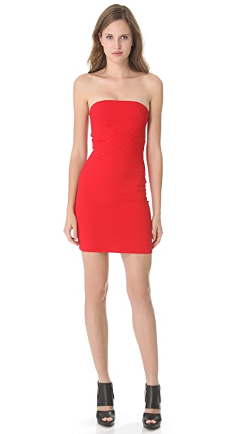 CoSTUME NATIONAL Red Seamed Dress