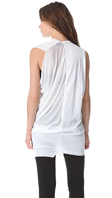 CoSTUME NATIONAL Asymmetrical Draped Top