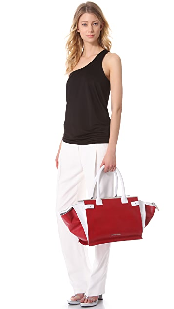 CoSTUME NATIONAL Red & White Satchel
