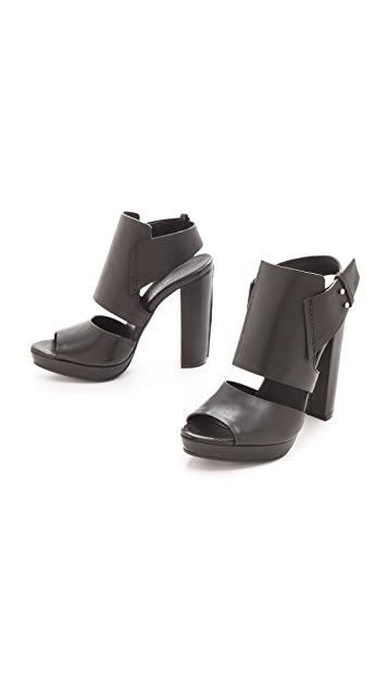 CoSTUME NATIONAL Sling Back Heeled Sandals