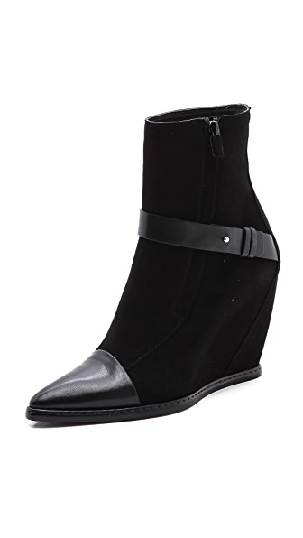 CoSTUME NATIONAL Suede Wedge Boots