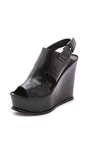 CoSTUME NATIONAL Slingback Wedge Sandals