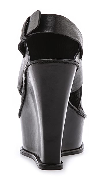 CoSTUME NATIONAL Slingback Wedge Sandals