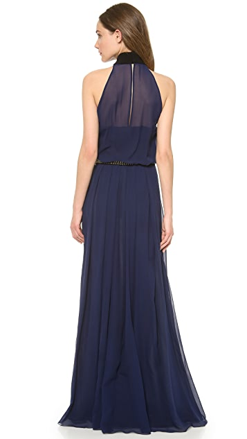 CoSTUME NATIONAL Halter Neck Maxi Dress