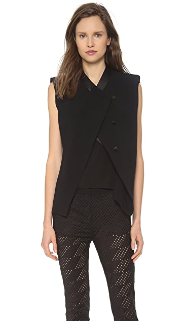 CoSTUME NATIONAL Fitted Sleeveless Jacket