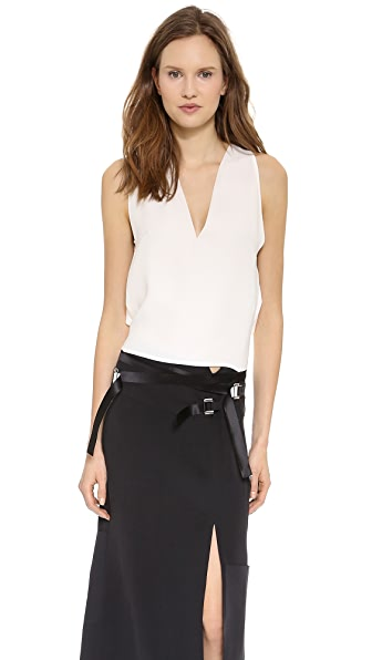 CoSTUME NATIONAL Tie Back Silk Top