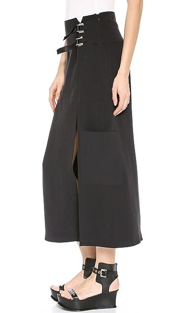 CoSTUME NATIONAL Long Skirt with Split