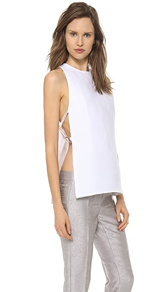 CoSTUME NATIONAL Tank with Split and Straps