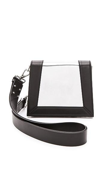 CoSTUME NATIONAL Mirrored Leather Handbag