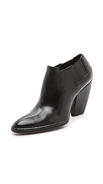 CoSTUME NATIONAL Leather Low Booties