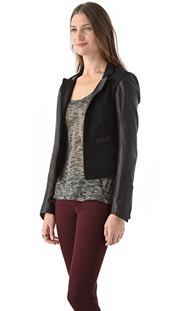 Cote By Improvd Maja Jacket with Leather Sleeves