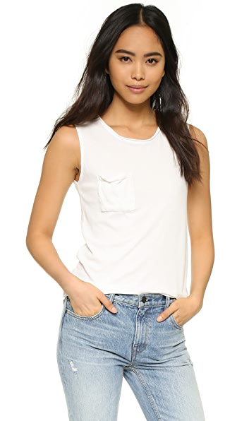 Cotton Citizen The Marbella Muscle Tank In Bone