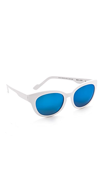Courreges Mirrored Oversized Sunglasses