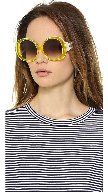 Courreges Glam Oversized Sunglasses