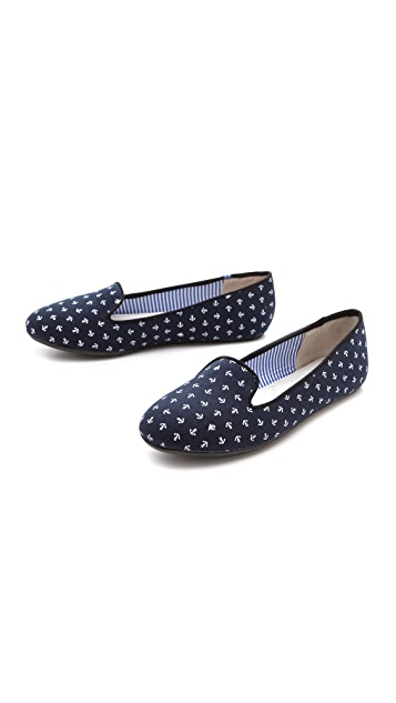 Charles Philip Tropez Cotton Anchor Flats