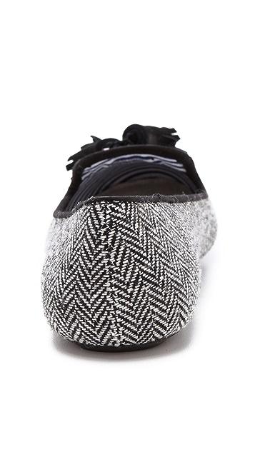 Charles Philip Lana Herringbone Loafers