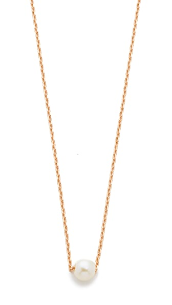 Cloverpost Freshwater Cultured Pearl Necklace In Rose Gold/Pearl