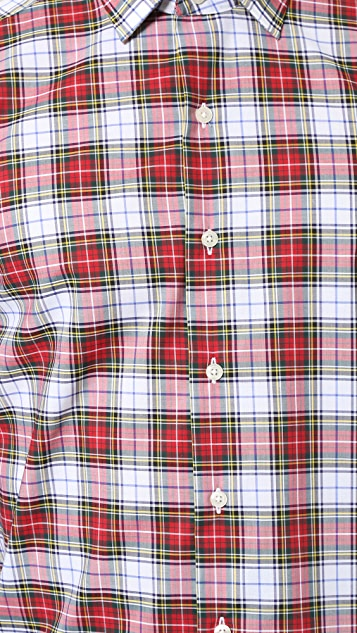 Culturata Point Collar Plaid Shirt
