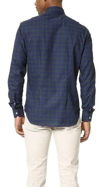 Culturata Spread Collar Plaid Shirt