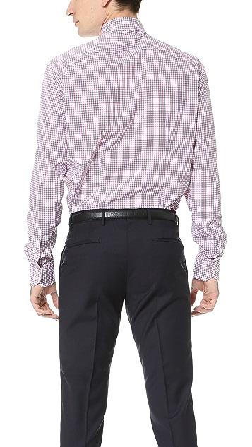 Culturata Point Collar Check Shirt
