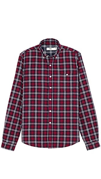 Creep Plaid Flannel Button Down Shirt