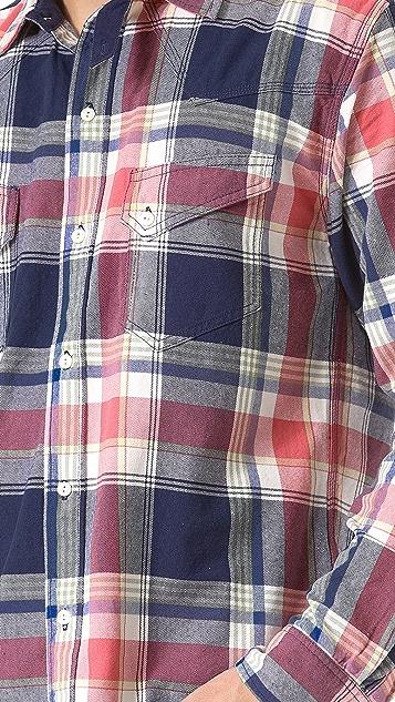 Creep Yarn Dyed Twill Western Shirt