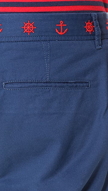 Creep Embroidered Weekend Chino Shorts