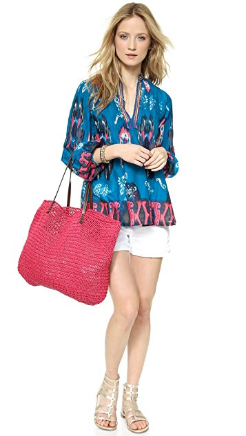 Christophe Sauvat Collection Ikat Flower Top