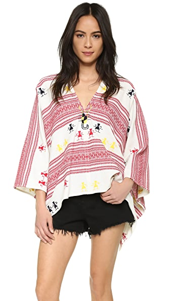 Christophe Sauvat Collection Embroidered Poncho