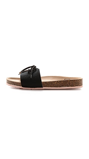 Charlotte Stone Barton Single Band Haircalf Sandals