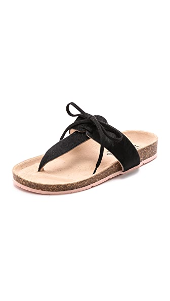Charlotte Stone Joss Haircalf Thong Sandals