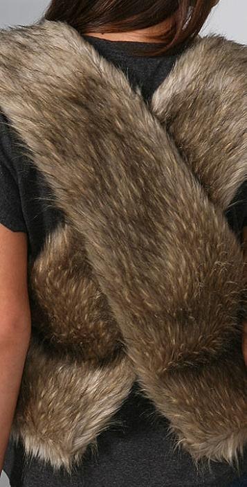 A Common Thread Faux Fur Vest