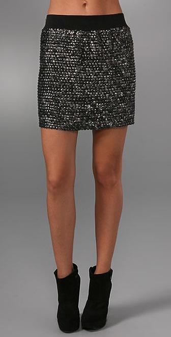 A Common Thread Sequin Mini Skirt