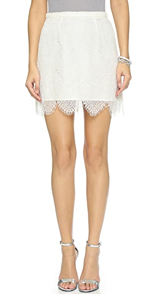 Cupcakes And Cashmere Silverlake Lace Skirt - Ivory