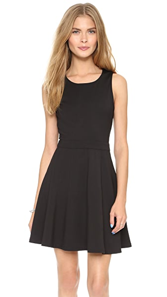 Cupcakes And Cashmere Griffith Fit & Flare Dress - Black