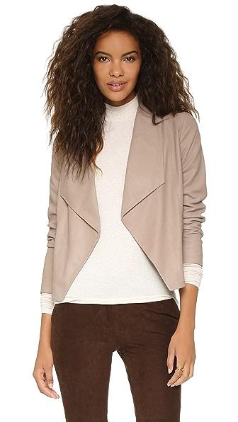 Sale alerts for  Callie Drape Front Leather Jacket - Covvet
