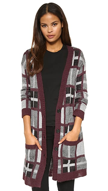 cupcakes and cashmere Stanley Plaid Cardigan Sweater