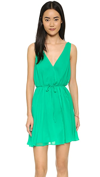 Cupcakes And Cashmere Hudson Wrap Dress - Leaf Green