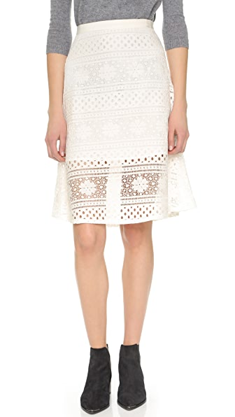 cupcakes and cashmere Pippen Lace Circle Skirt