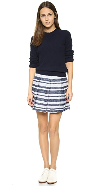 cupcakes and cashmere Rose Striped Pleated Skirt
