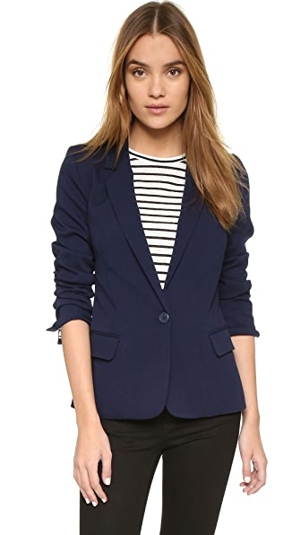 Cupcakes And Cashmere Brixton Blazer With Striped Lining - Ink