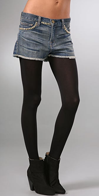 Current/Elliott The Boyfriend Shorts with Studs