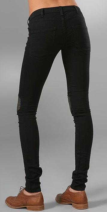 Current/Elliott The Grommet Knee Legging Jeans